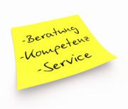 Beratung, Kompetenz, Service